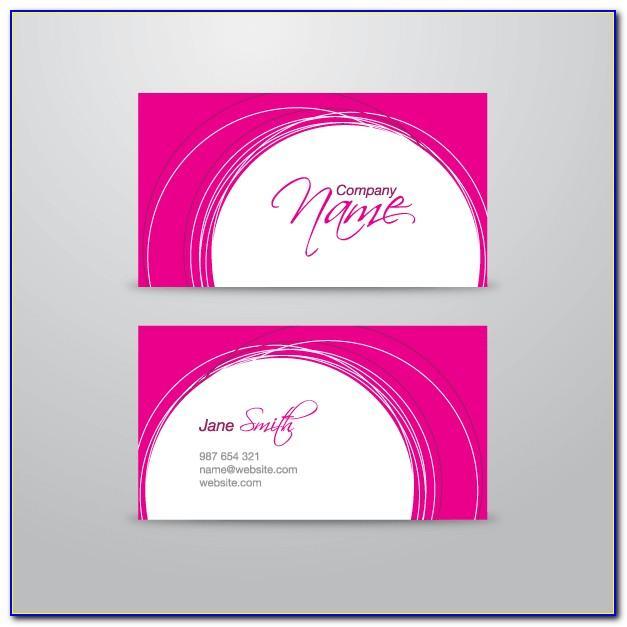 Light Pink Business Card Template