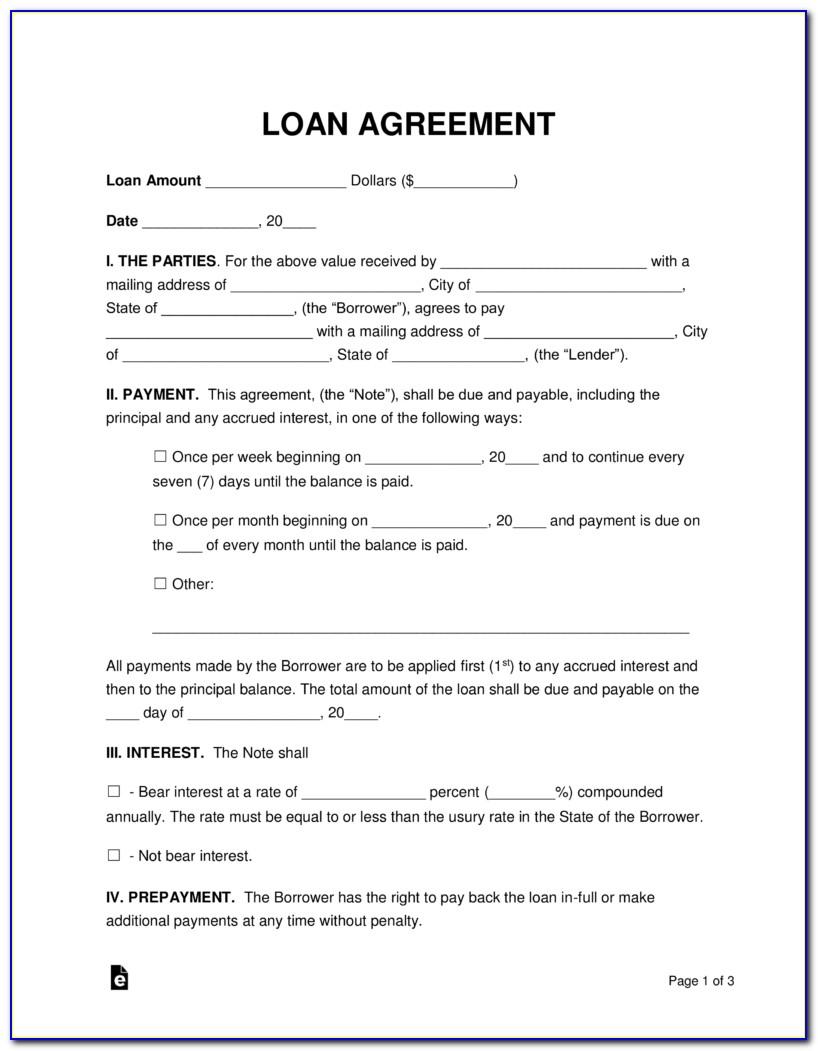 Loan Contract Template Australia