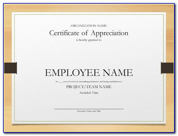 Long Service Award Certificate Templates