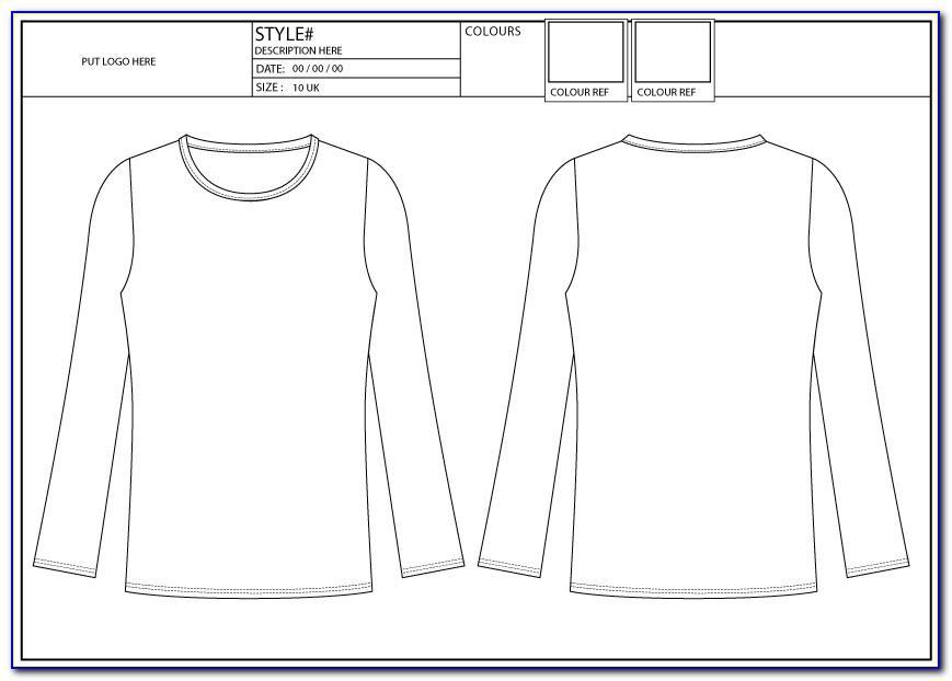 Long Sleeve Polo Shirt Design Template