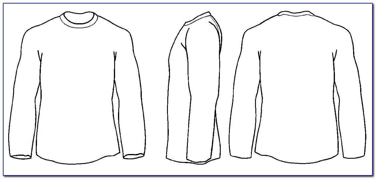 Long Sleeve Shirt Design Template