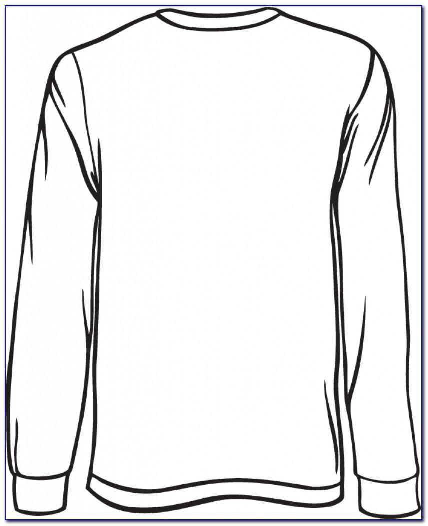 Long Sleeve Tee Shirt Design Template