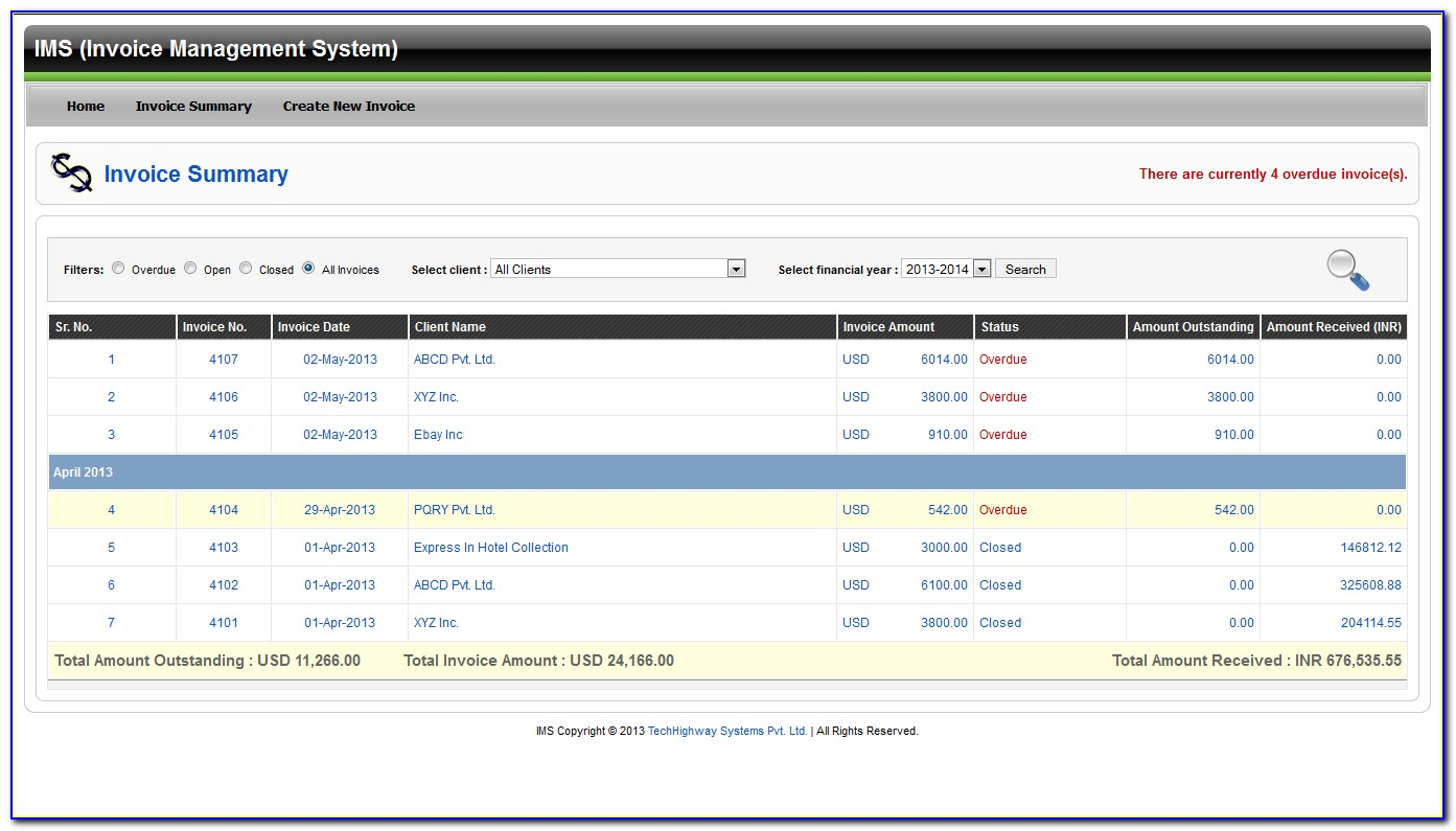 Lps Invoice Management System