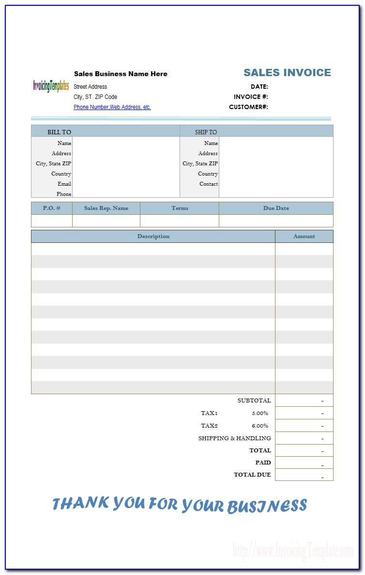 Malaysia Gst Tax Invoice Template Excel
