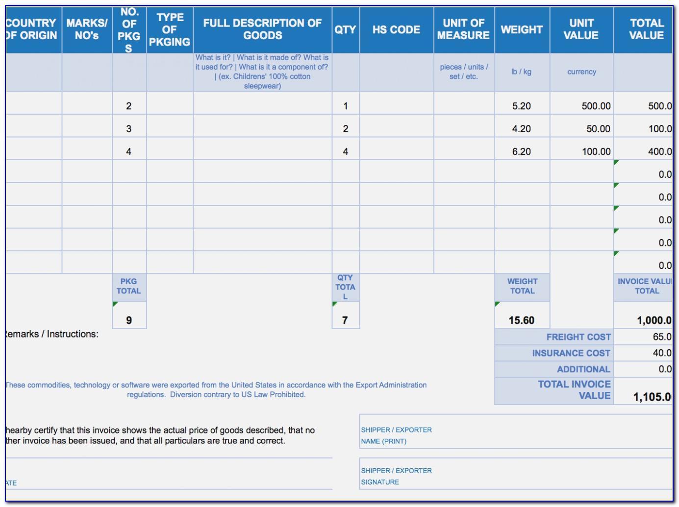 Malaysia Invoice Format