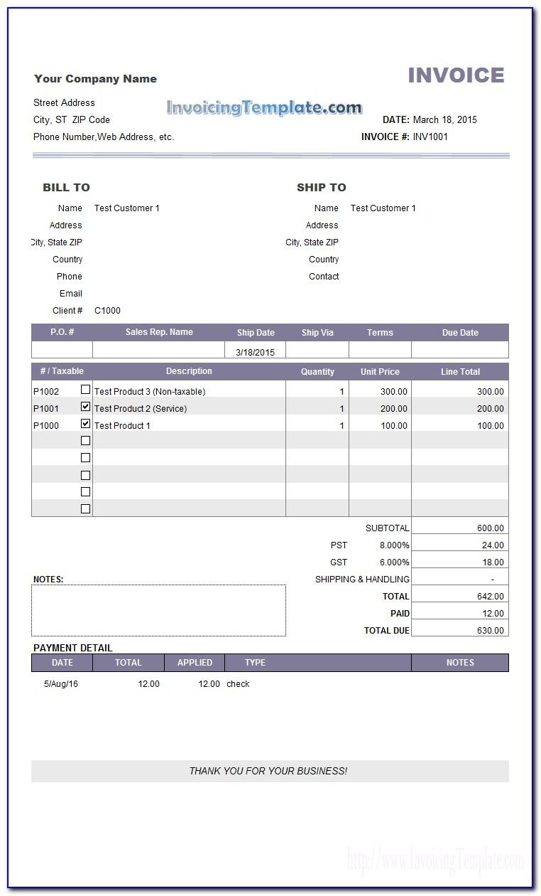 Malaysia Sst Invoice Template
