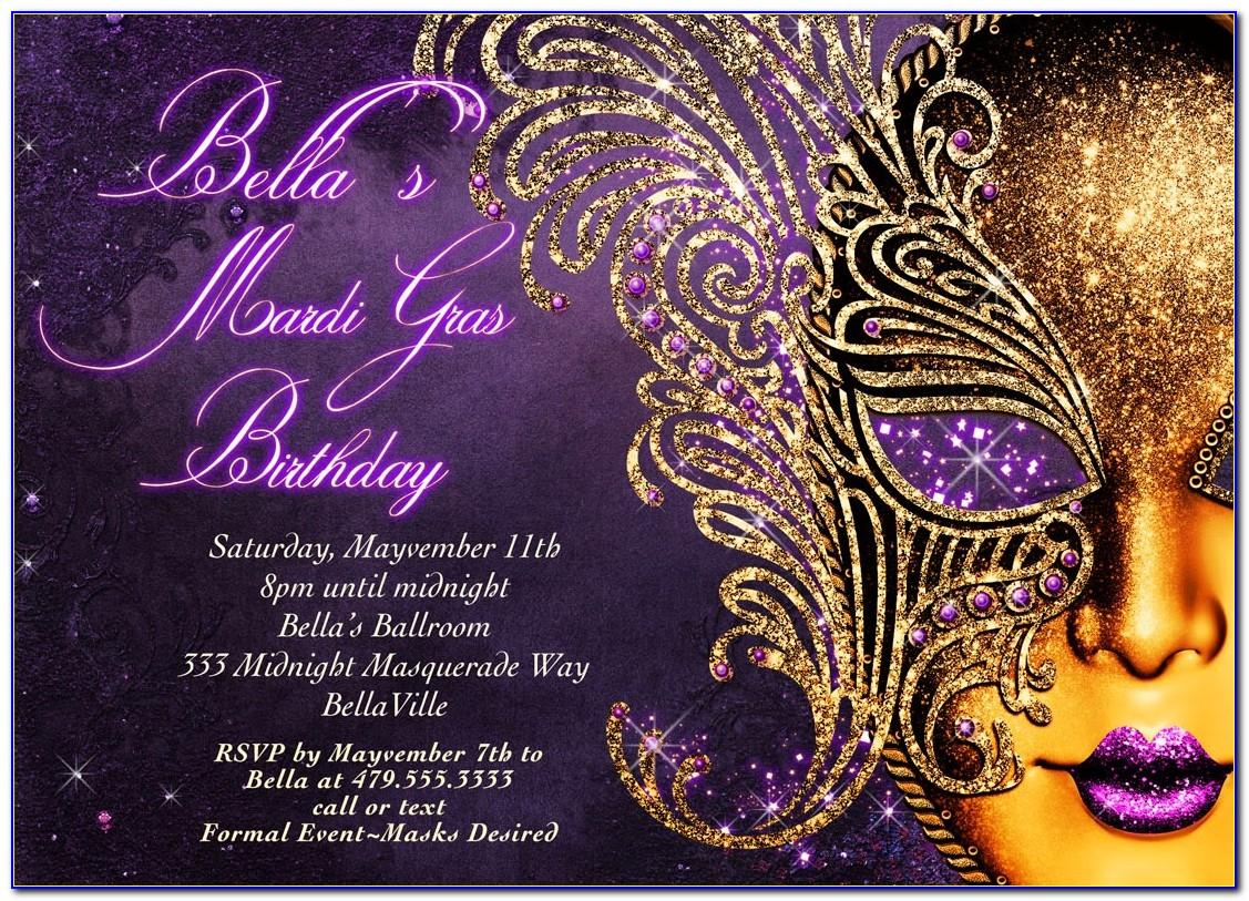 Masquerade Party Invitations Templates Free