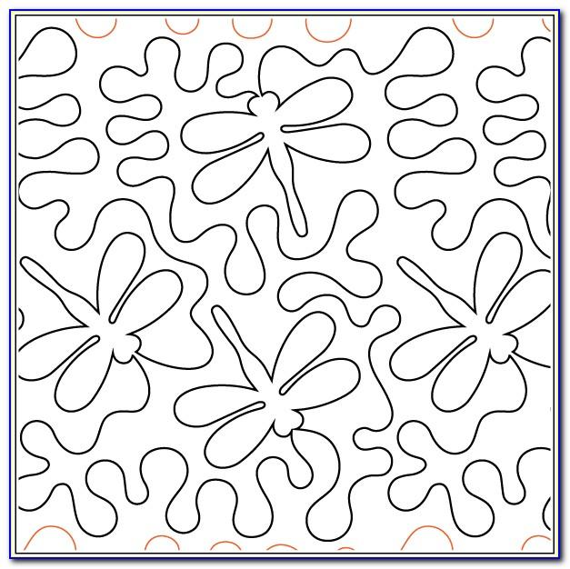 Meandering Quilting Stencil