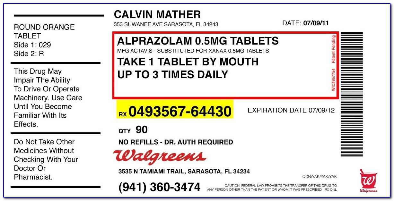 Medicine Bottle Label Format
