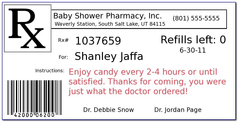 Medicine Bottle Label Template Free