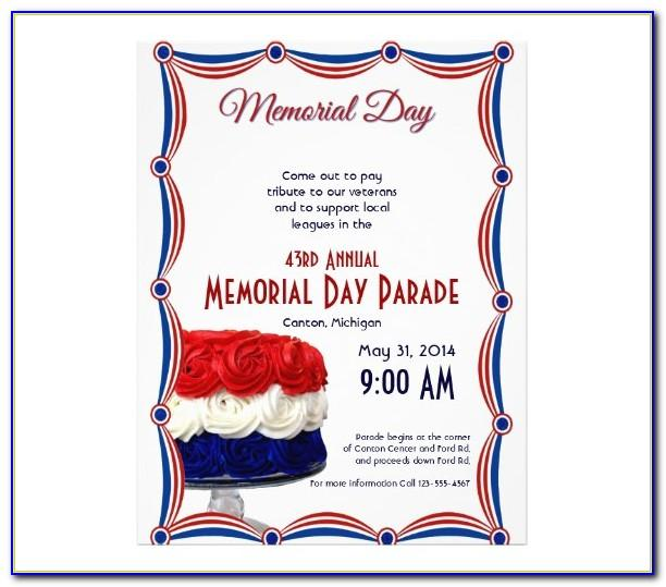Memorial Day Flyer Template Free