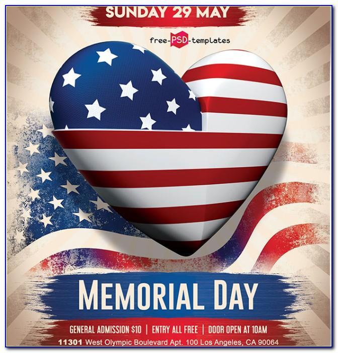 Memorial Service Flyer Template