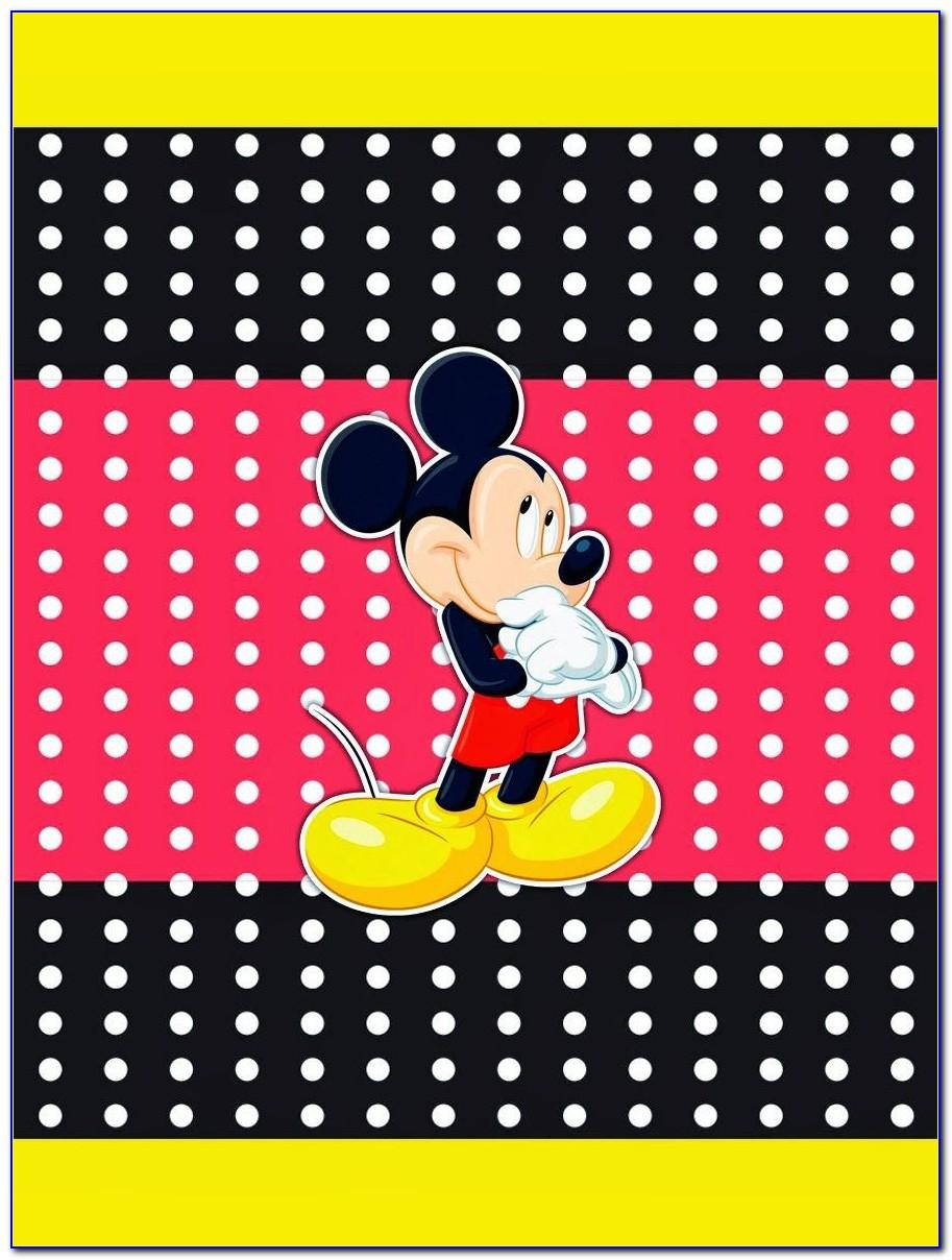 Mickey Mouse Candy Bar Wrapper Template Free