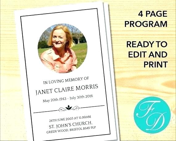 Microsoft Publisher Funeral Program Template Free