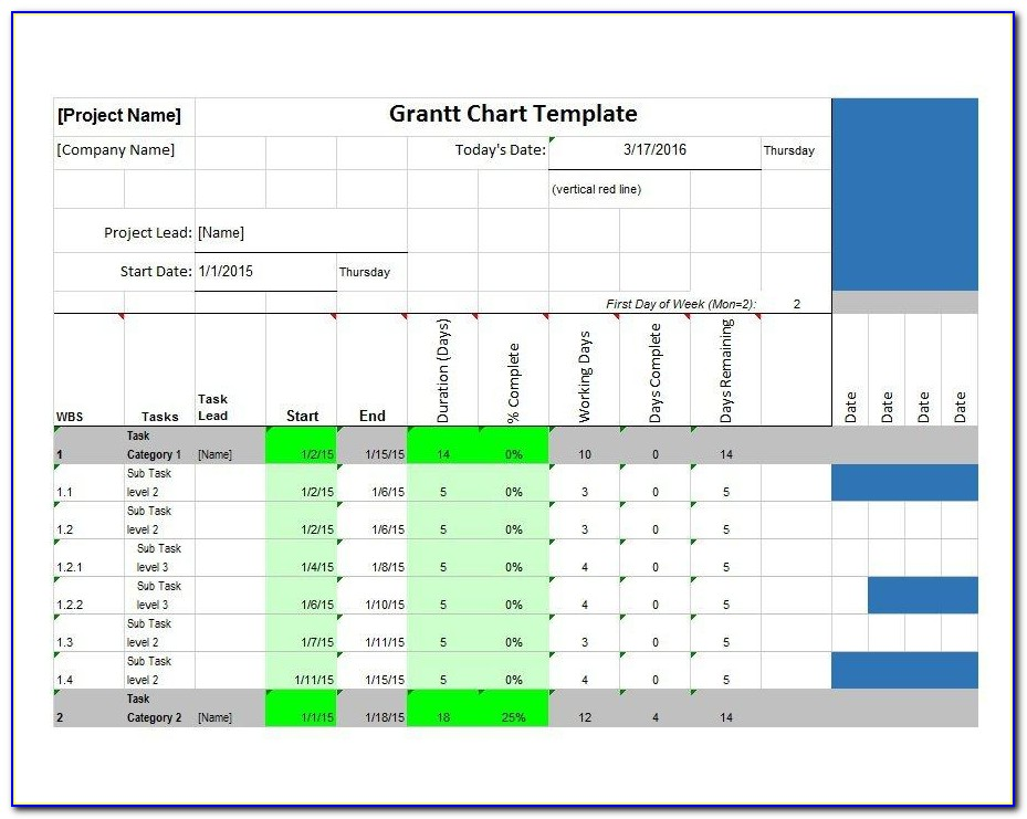 Microsoft Word Gantt Chart Template Free Download