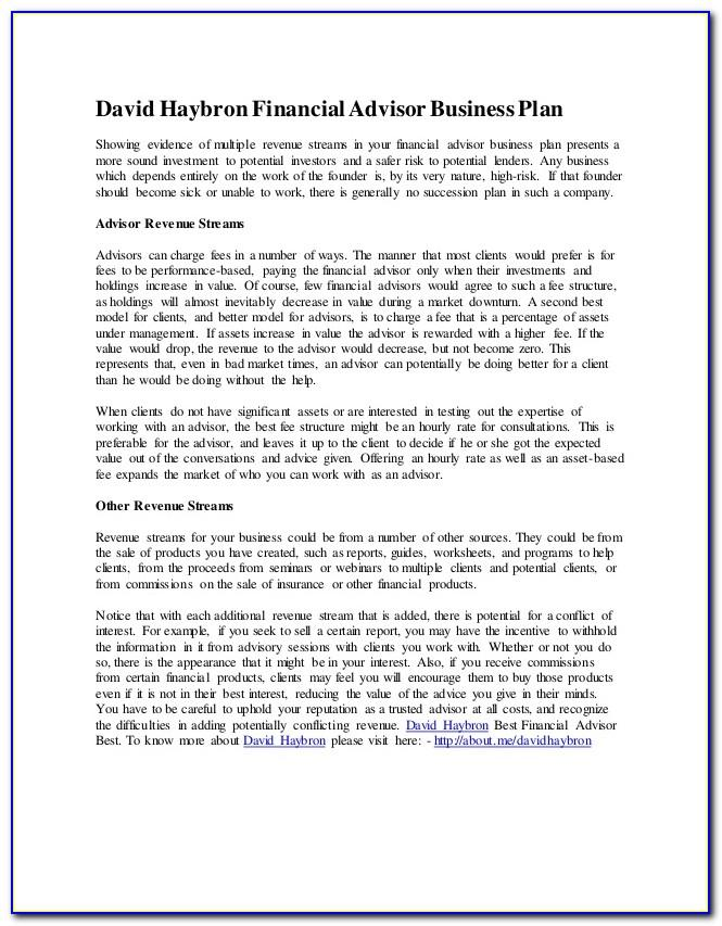 Morgan Stanley Financial Advisor Business Plan Template