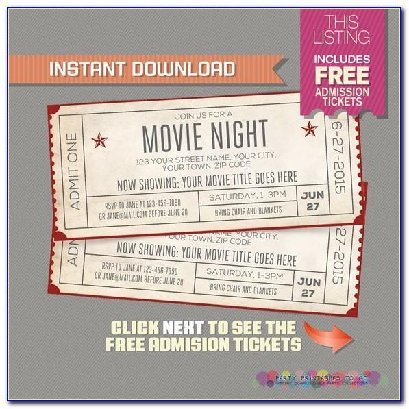 Movie Night Ticket Template Free