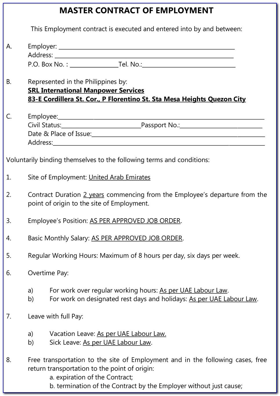 Nail Technician Contract Template