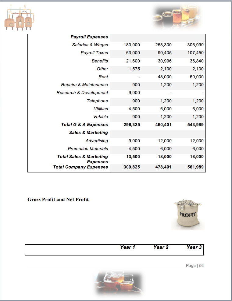 Nano Brewery Business Plan Example