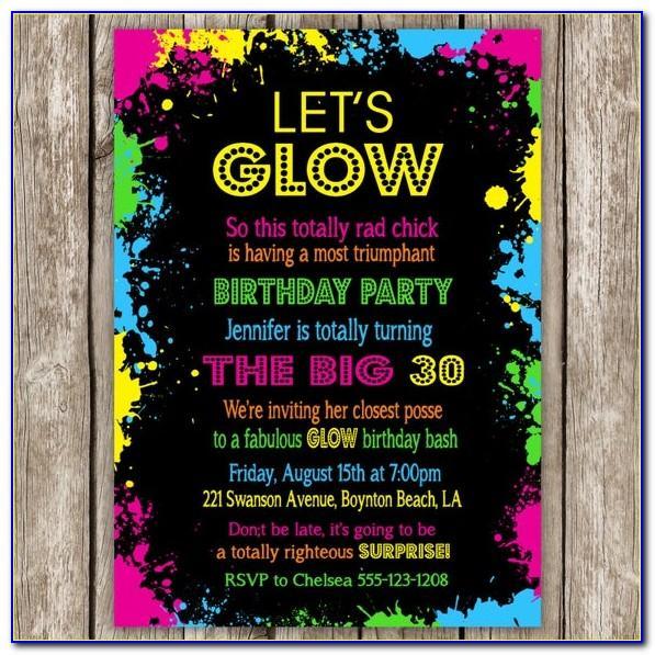 Neon Party Invitation Maker