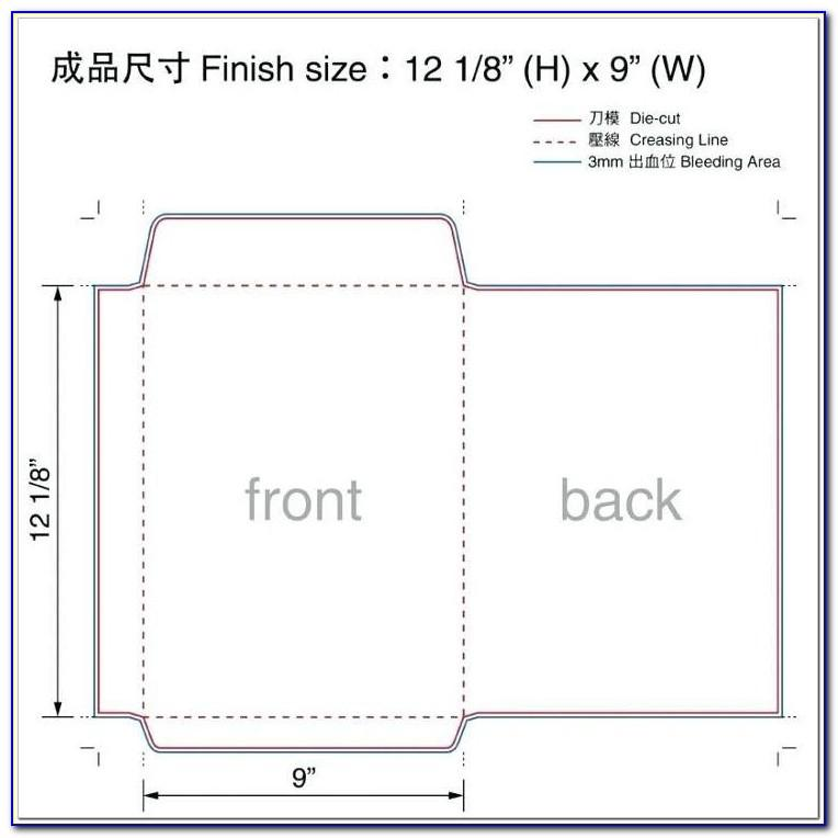 No 9 Remittance Envelope Template