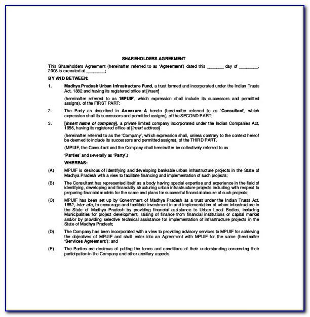 Nominee Shareholder Agreement Template Uk