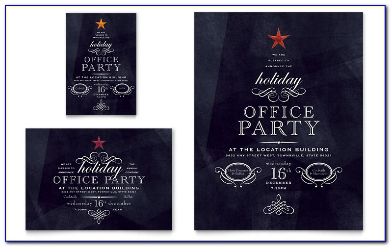 Office Christmas Party Invite Template
