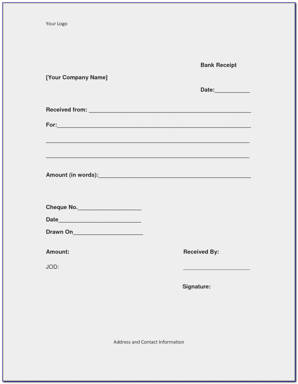 Online Receipt Template Maker