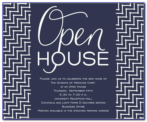 Open House Invitations Templates Free