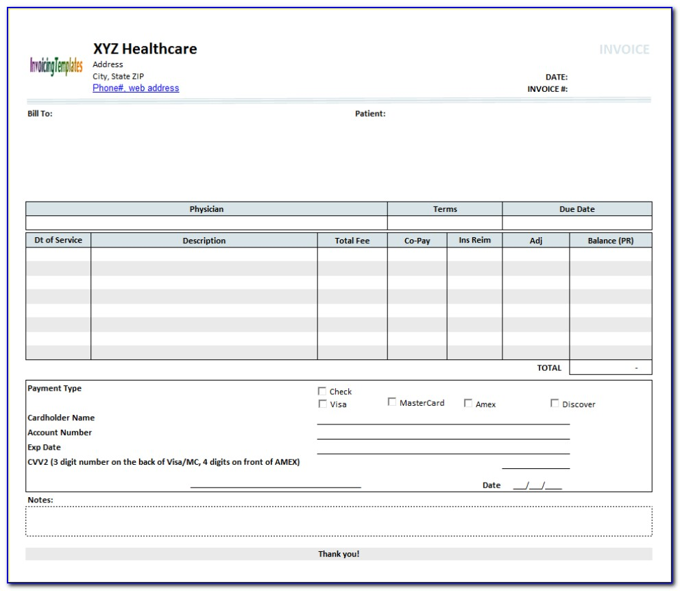 Open Office Writer Invoice Template