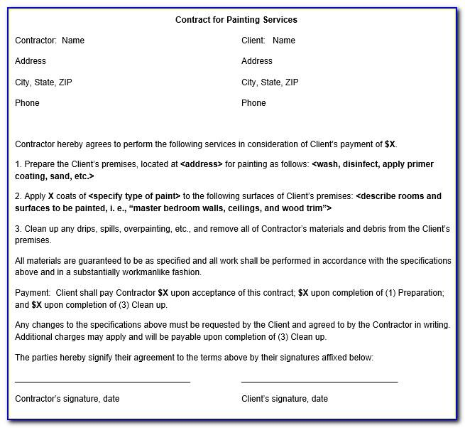 Painting Contracts Forms