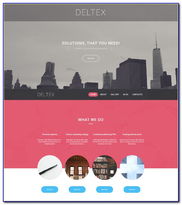 Parallax Scrolling Website Templates