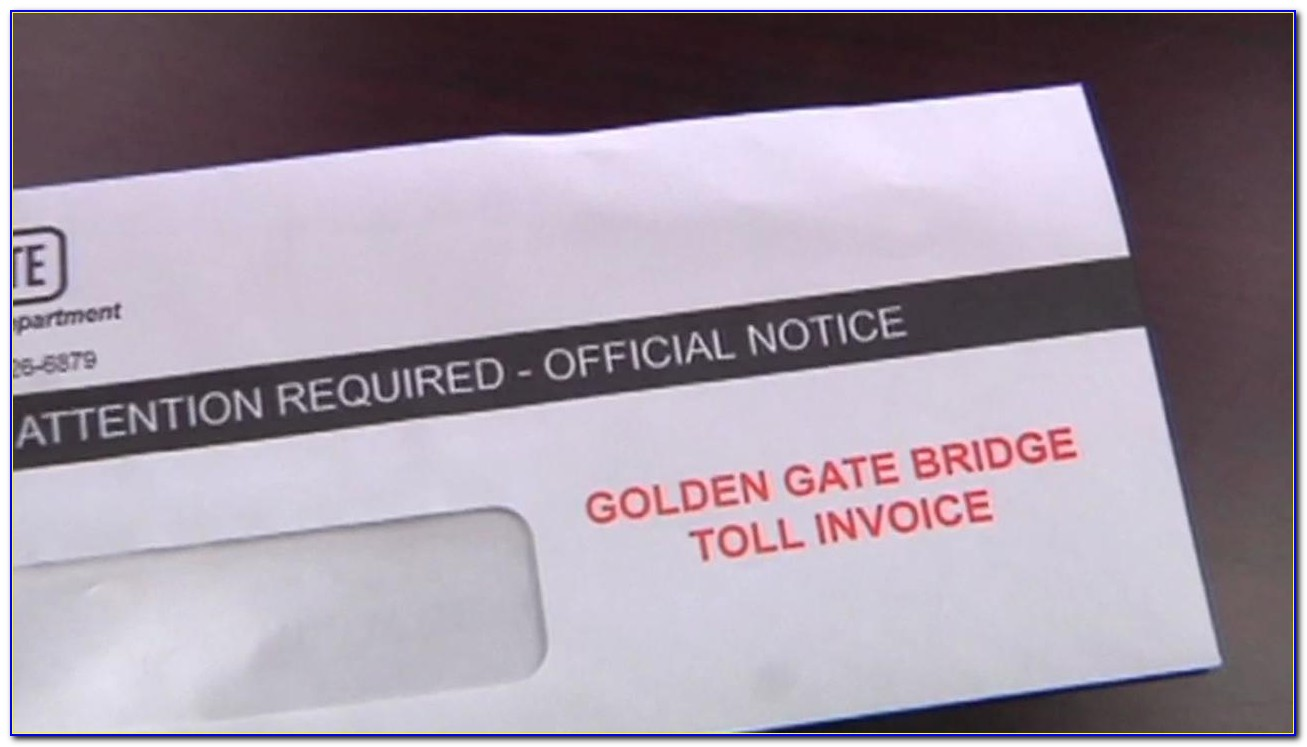 Pay Golden Gate Bridge Toll Invoice Online