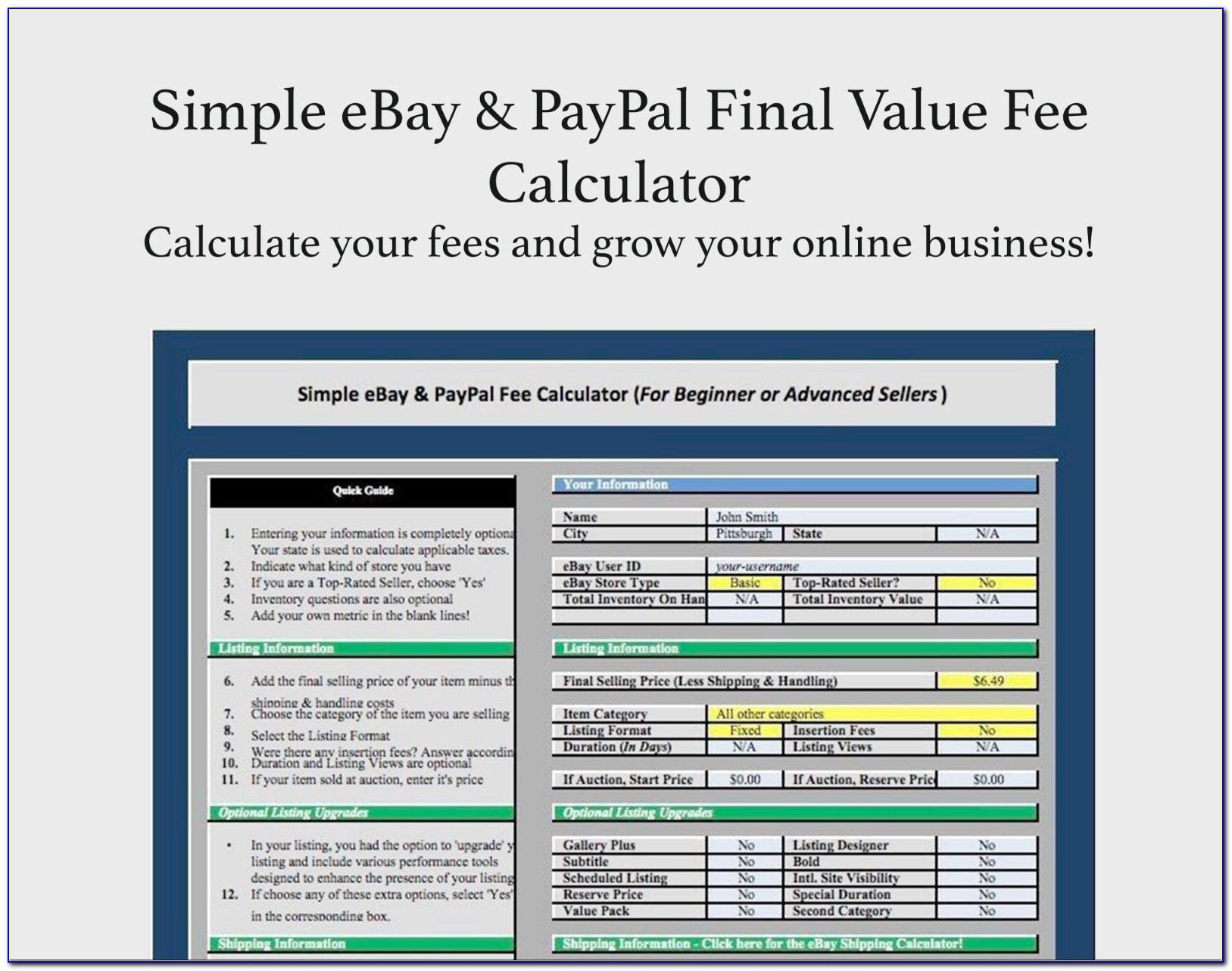 Paypal Invoice Calculator