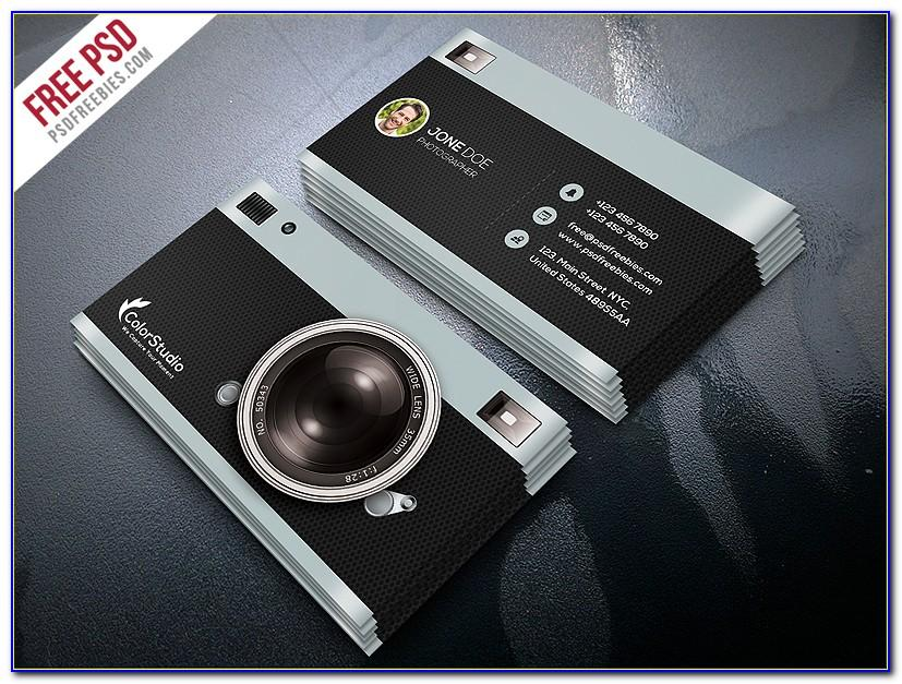 Photographer Business Card Photoshop Template