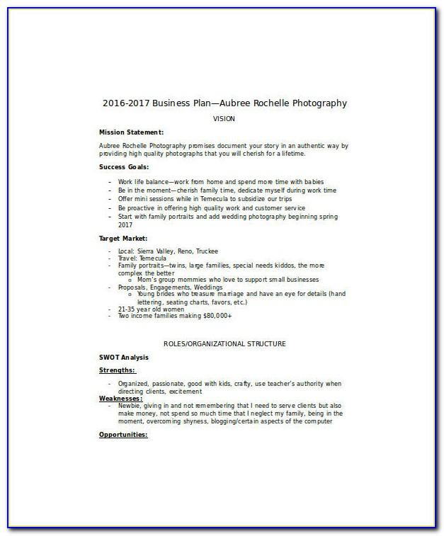 Photography Business Plan Samples