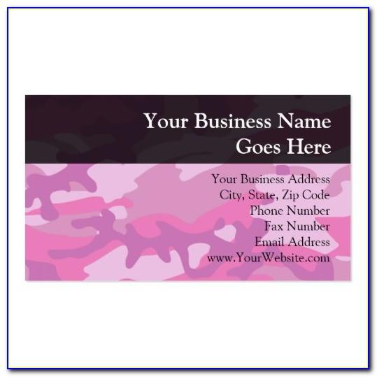 Pink Business Cards Templates Free