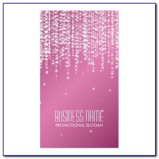 Pink Zebra Business Card Template Free