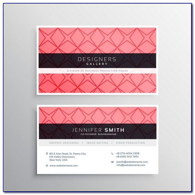 Pink Zebra Business Card Template