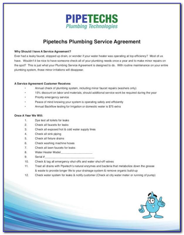 Plumber Contract Template
