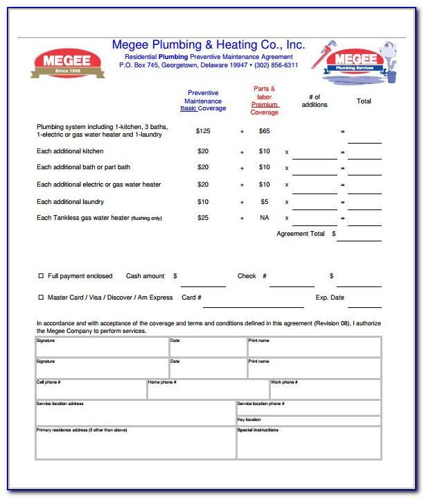 Plumbing Contract Example