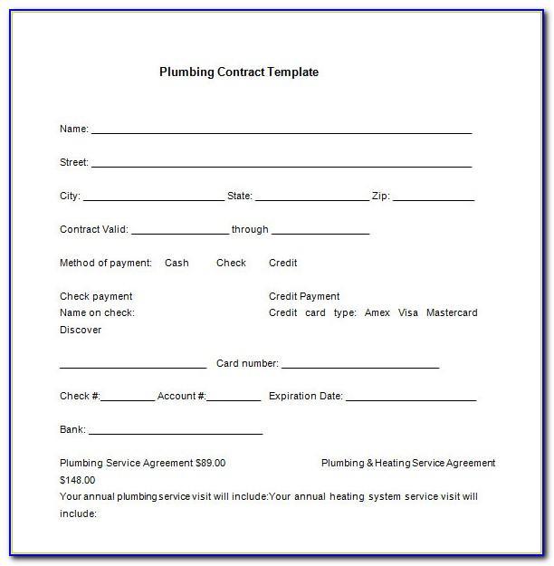 Plumbing Contract Format