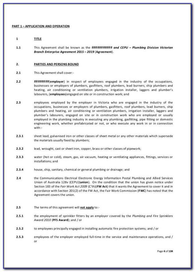 Plumbing Contract Samples