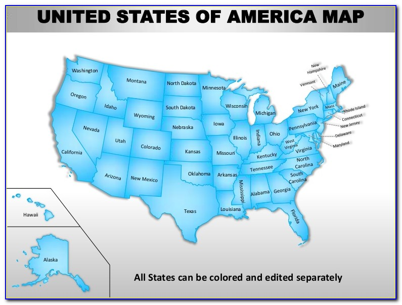 Powerpoint Us State Map Template