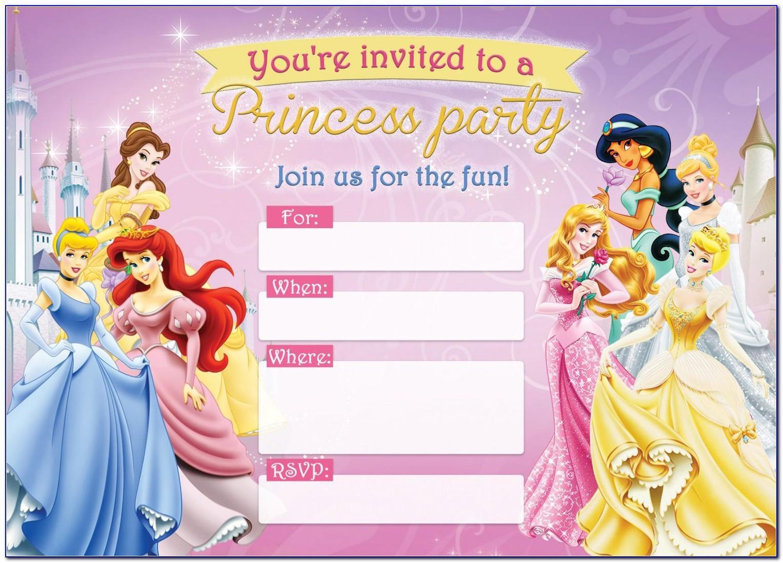 Princess Sofia Birthday Invitation Template Free
