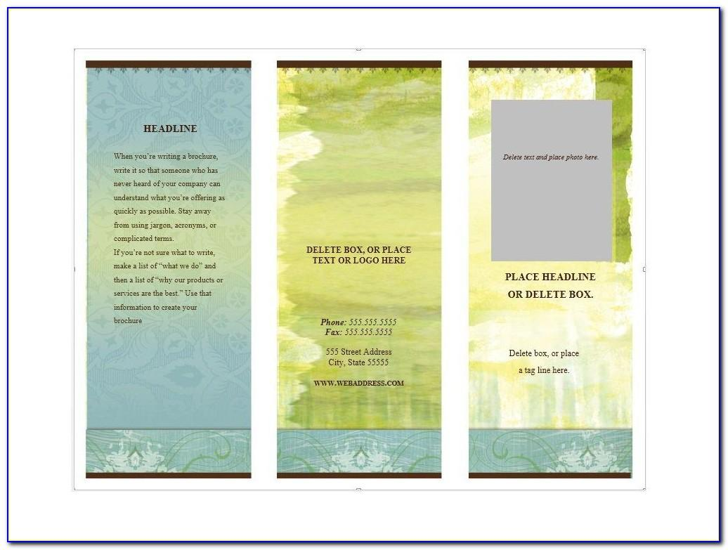 Printable Brochure Templates For Students