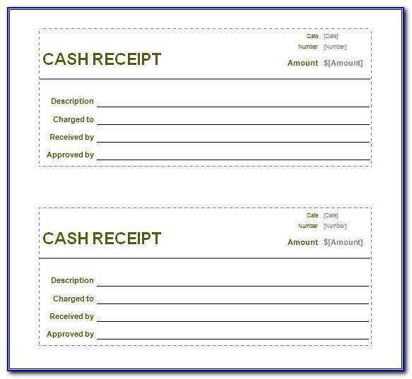 Printable Cash Receipt Template Word