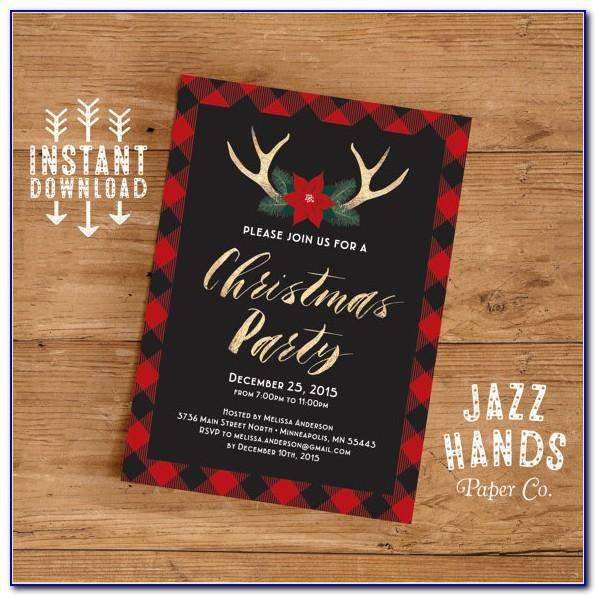 Printable Christmas Party Invite Template