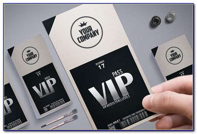 Printable Vip Ticket Template