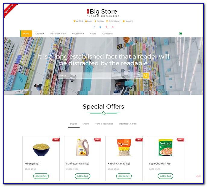 Professional Ecommerce Website Templates Free Download Html With Css